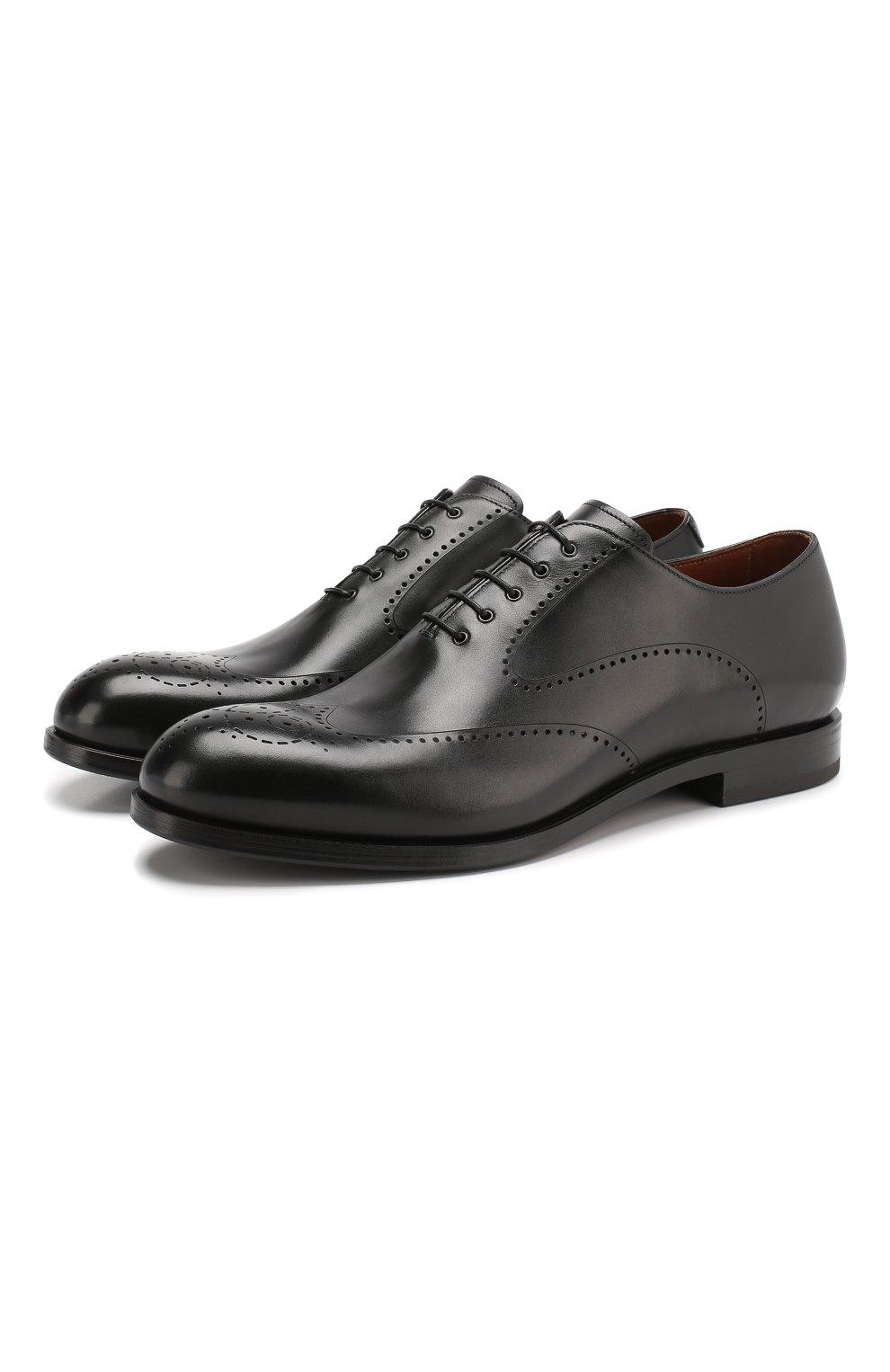 Мужские кожаные оксфорды W.GIBBS черного цвета, арт. 2552059/0216 | Фото 1