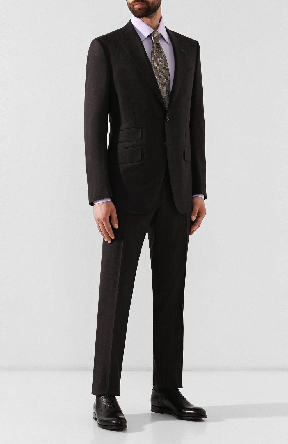 Мужские кожаные оксфорды W.GIBBS черного цвета, арт. 2552059/0216 | Фото 2