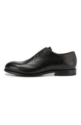 Мужские кожаные оксфорды W.GIBBS черного цвета, арт. 2552059/0216 | Фото 3