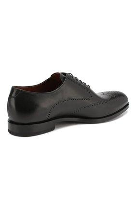 Мужские кожаные оксфорды W.GIBBS черного цвета, арт. 2552059/0216 | Фото 4