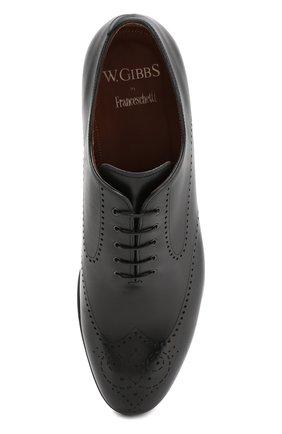 Мужские кожаные оксфорды W.GIBBS черного цвета, арт. 2552059/0216 | Фото 5