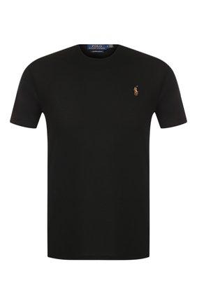 Мужская хлопковая футболка POLO RALPH LAUREN черного цвета, арт. 710740727 | Фото 1