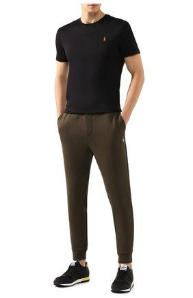 Мужская хлопковая футболка POLO RALPH LAUREN черного цвета, арт. 710740727 | Фото 2