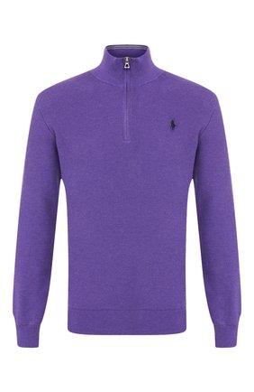 Мужской хлопковый джемпер POLO RALPH LAUREN фиолетового цвета, арт. 710701611 | Фото 1