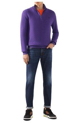 Мужской хлопковый джемпер POLO RALPH LAUREN фиолетового цвета, арт. 710701611 | Фото 2
