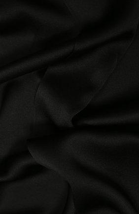 Мужской шелковый шарф SAINT LAURENT черного цвета, арт. 511992/4Y011 | Фото 2