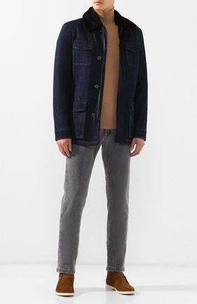 Мужская джинсовая куртка KITON темно-синего цвета, арт. UW0580TV03S30 | Фото 2
