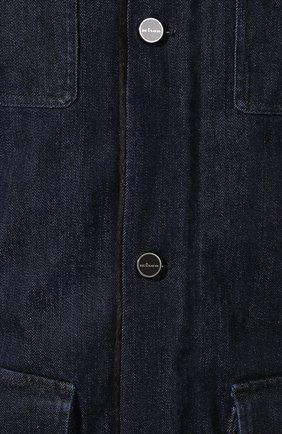 Мужская джинсовая куртка KITON темно-синего цвета, арт. UW0580TV03S30   Фото 5