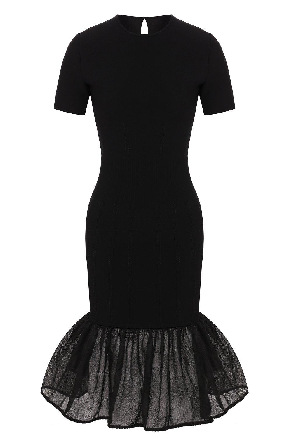 Платье из смеси шелка и вискозы   Фото №1
