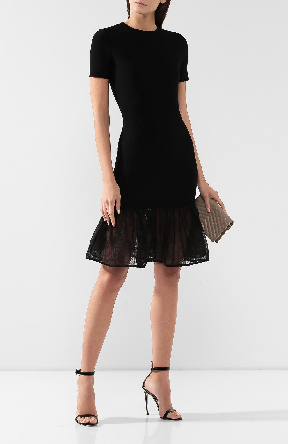 Платье из смеси шелка и вискозы   Фото №2