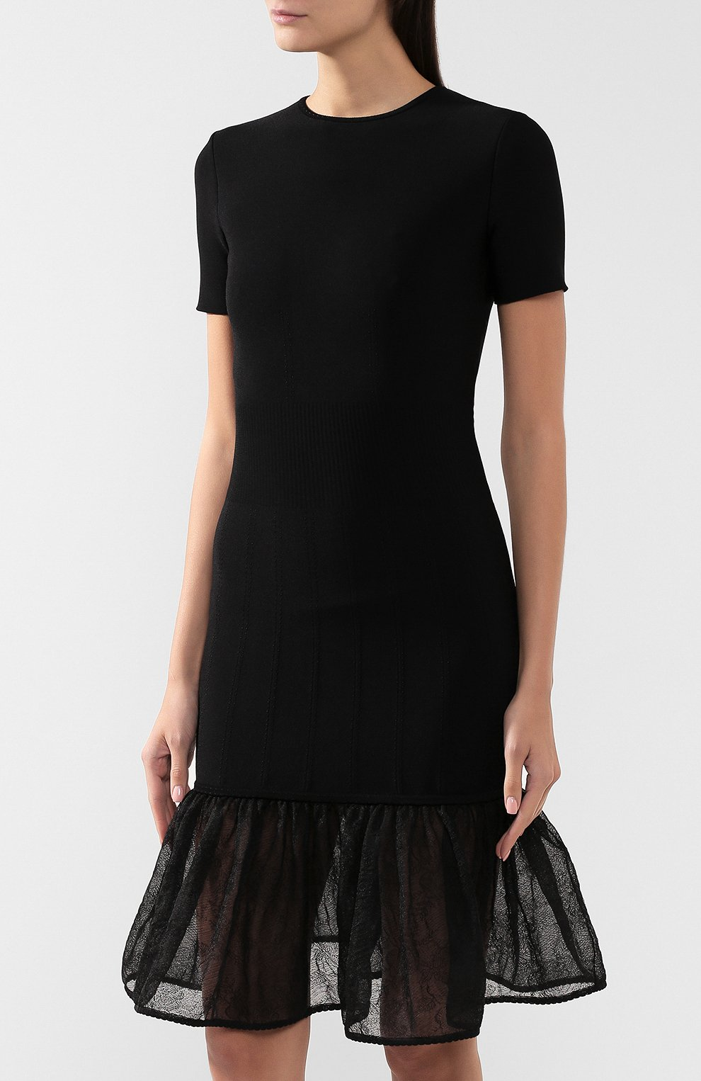 Платье из смеси шелка и вискозы   Фото №3