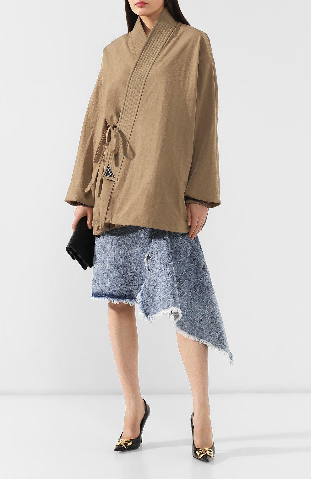 Женская куртка BALENCIAGA бежевого цвета, арт. 582845/TF005 | Фото 2