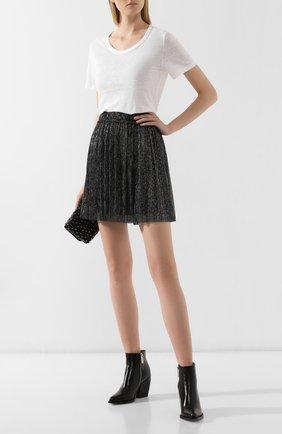 Женская льняная футболка ISABEL MARANT ETOILE белого цвета, арт. TS0378-00M004E/KILIANN   Фото 2