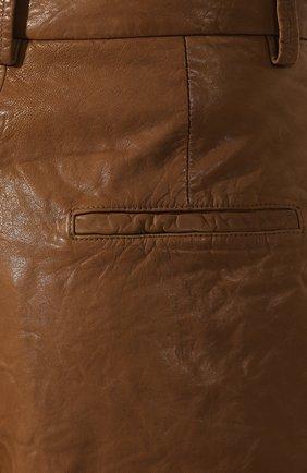 Женские кожаные шорты ISABEL MARANT ETOILE коричневого цвета, арт. SH0209-19A002E/AB0T | Фото 5
