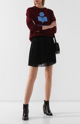 Женская юбка ISABEL MARANT ETOILE черного цвета, арт. JU1037-19A035E/BENEDICTE   Фото 2
