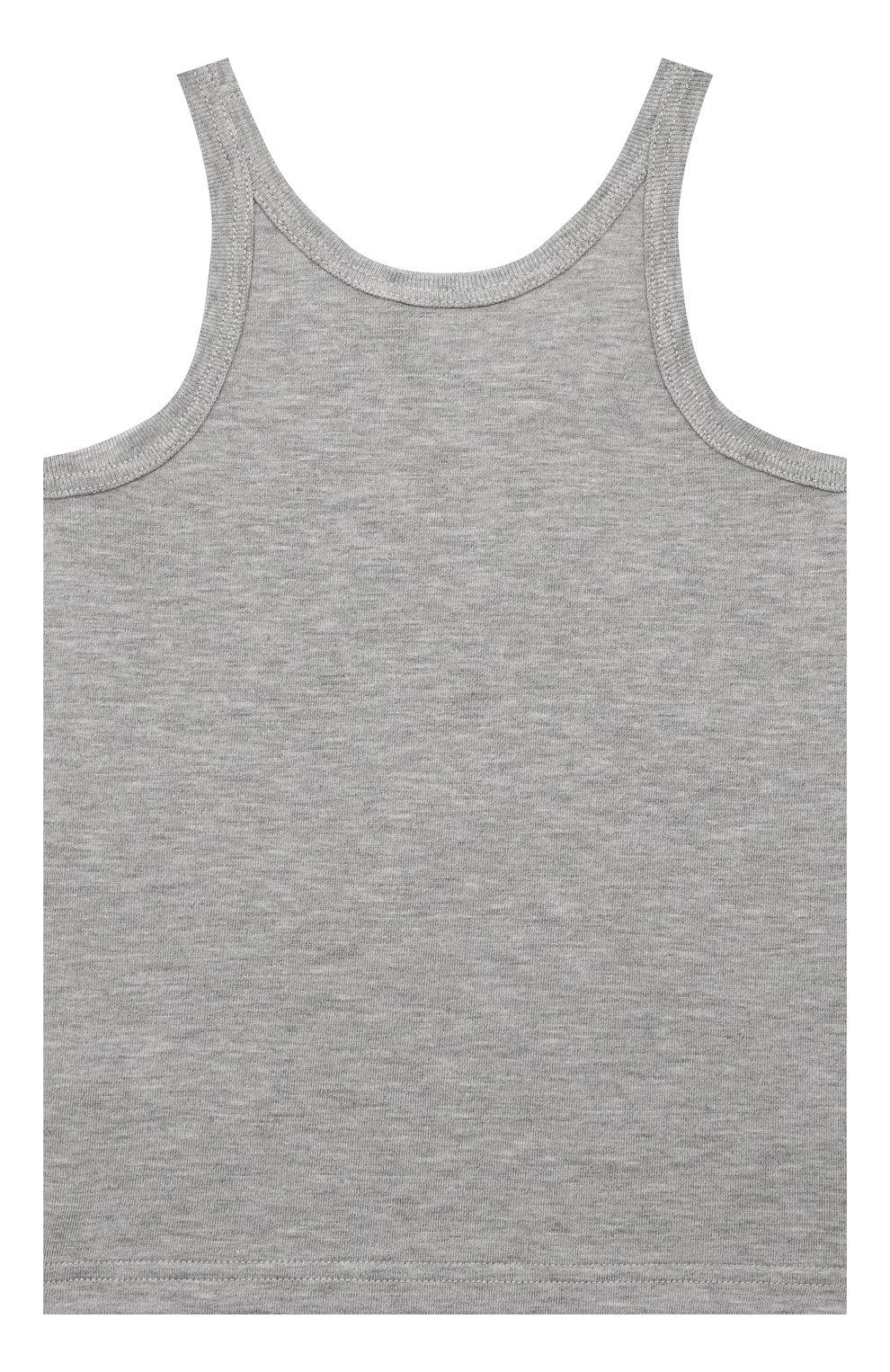 Детский комплект из двух хлопковых маек DOLCE & GABBANA серого цвета, арт. L4J702/G70CU | Фото 3
