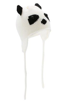Детского шерстяная шапка CATYA белого цвета, арт. 923604/DF | Фото 1