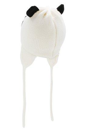 Детского шерстяная шапка CATYA белого цвета, арт. 923604/DF | Фото 2