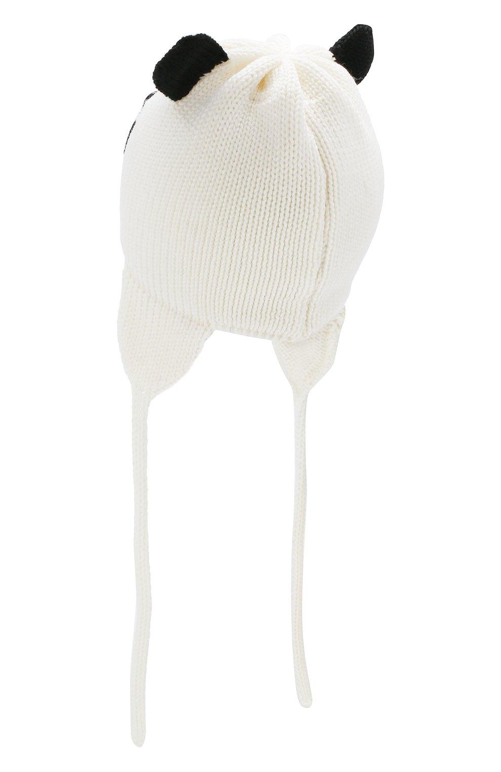 Шерстяная шапка Catya белого цвета   Фото №2