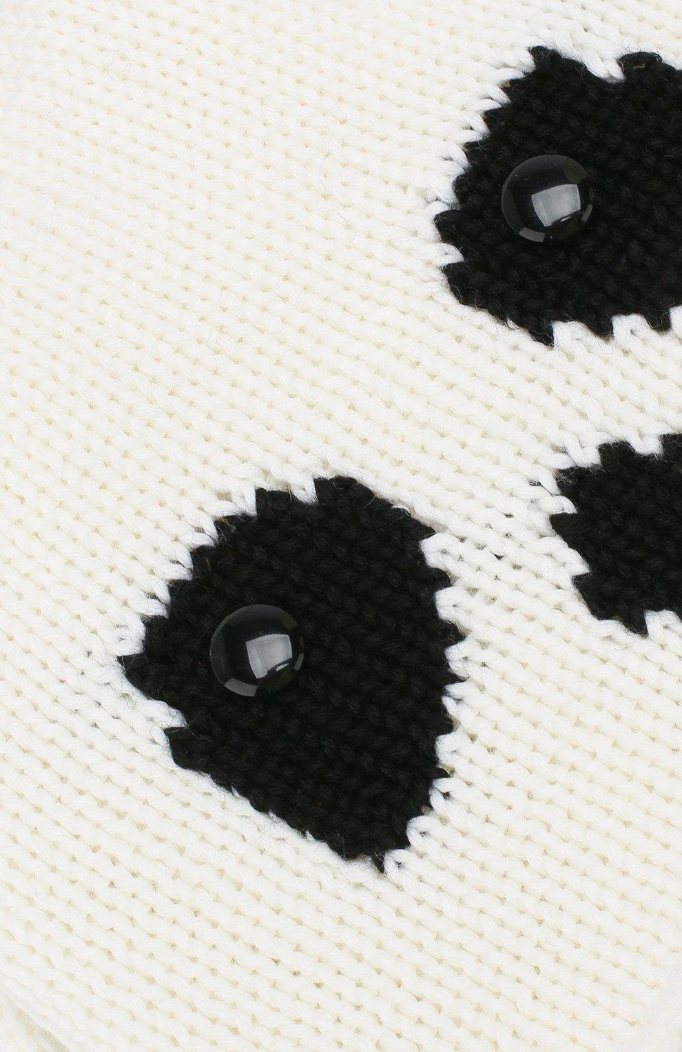 Шерстяная шапка Catya белого цвета   Фото №3