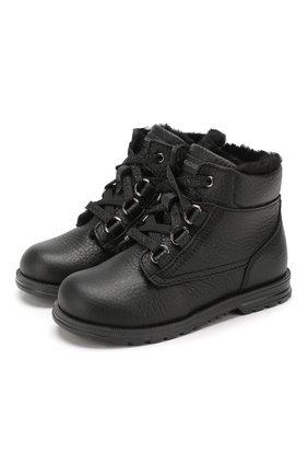 Утепленные ботинки из кожи | Фото №1