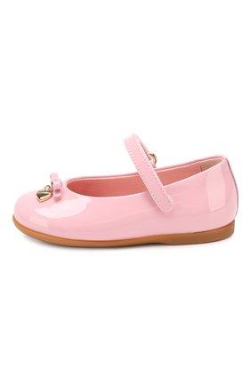 Детские туфли из лаковой кожи DOLCE & GABBANA светло-розового цвета, арт. D20057/A1328/19-28 | Фото 2