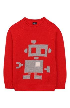 Детский шерстяной пуловер IL GUFO красного цвета, арт. A19MA304EM620/2А-4А | Фото 1