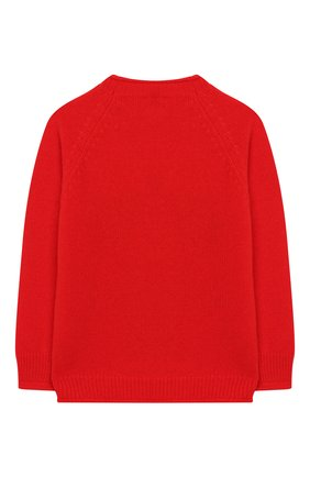 Детский шерстяной пуловер IL GUFO красного цвета, арт. A19MA304EM620/2А-4А | Фото 2