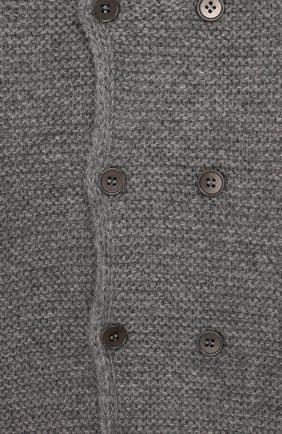 Детский шерстяной кардиган IL GUFO серого цвета, арт. A19GF239EM620/12М-18М   Фото 3