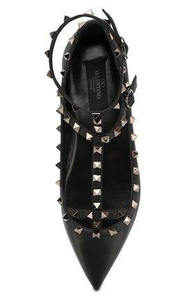 Женские кожаные балетки valentino garavani rockstud noir  VALENTINO черного цвета, арт. ZW2S0376/V0G | Фото 5