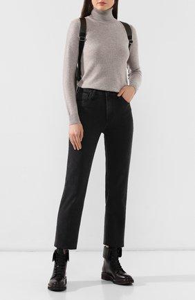 Женские кожаные ботинки BRUNELLO CUCINELLI черного цвета, арт. MZBSG1610 | Фото 2