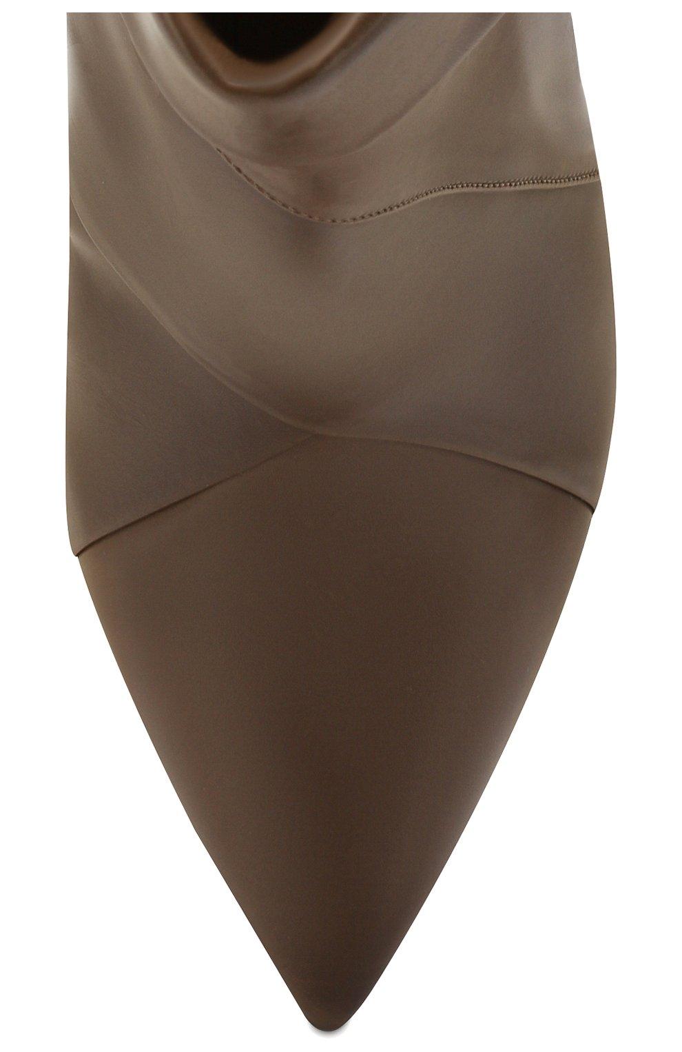 Женские кожаные ботильоны laurel ISABEL MARANT хаки цвета, арт. LAREL/B00367-19A024S | Фото 5