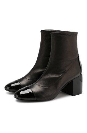 Женские кожаные ботильоны CASADEI черного цвета, арт. 1Q946N0601T00569000 | Фото 1