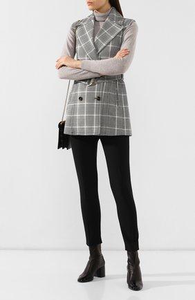 Женские кожаные ботильоны CASADEI черного цвета, арт. 1Q946N0601T00569000 | Фото 2