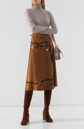Женские замшевые ботфорты CASADEI коричневого цвета, арт. 2T921N0801T00052608 | Фото 2