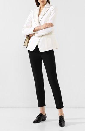 Женские кожаные дерби jonas SAINT LAURENT черного цвета, арт. 582149/0D500 | Фото 2