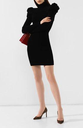 Женская замшевые туфли anja SAINT LAURENT коричневого цвета, арт. 582299/1FL00 | Фото 2
