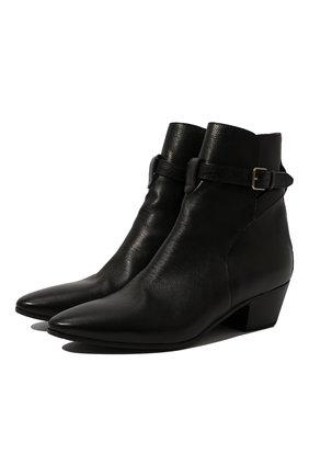 Женские кожаные ботинки west SAINT LAURENT черного цвета, арт. 579169/0ZZ00 | Фото 1