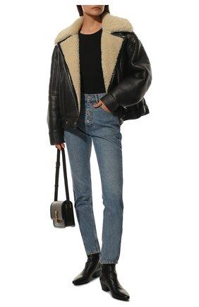 Женские кожаные ботинки west SAINT LAURENT черного цвета, арт. 579169/0ZZ00 | Фото 2