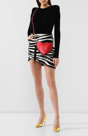 Женский сумка sac coeur SAINT LAURENT красного цвета, арт. 584935/09E1W | Фото 2