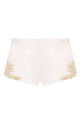 Женские шелковые шорты LA PERLA белого цвета, арт. 0019228 | Фото 1