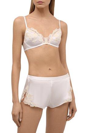 Женские шелковые шорты LA PERLA белого цвета, арт. 0019228 | Фото 2