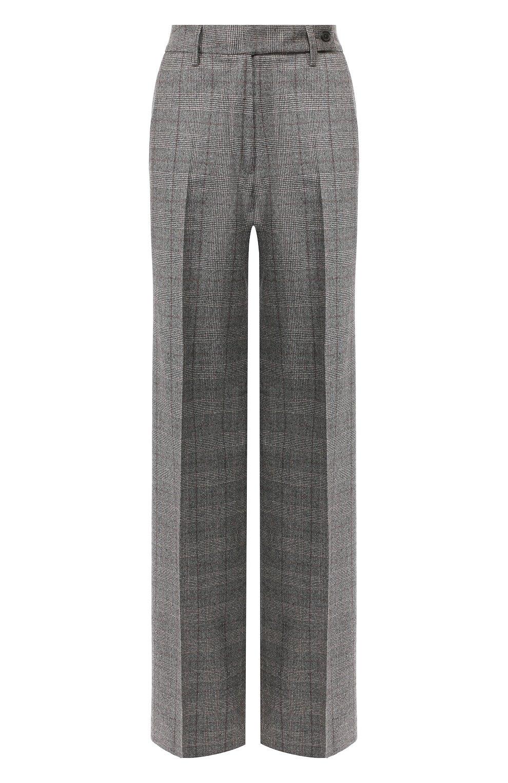 Женские брюки из смеси шерсти и кашемира KITON серого цвета, арт. D48119K04S31 | Фото 1