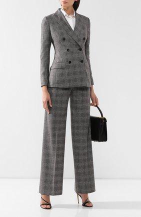 Женские брюки из смеси шерсти и кашемира KITON серого цвета, арт. D48119K04S31 | Фото 2