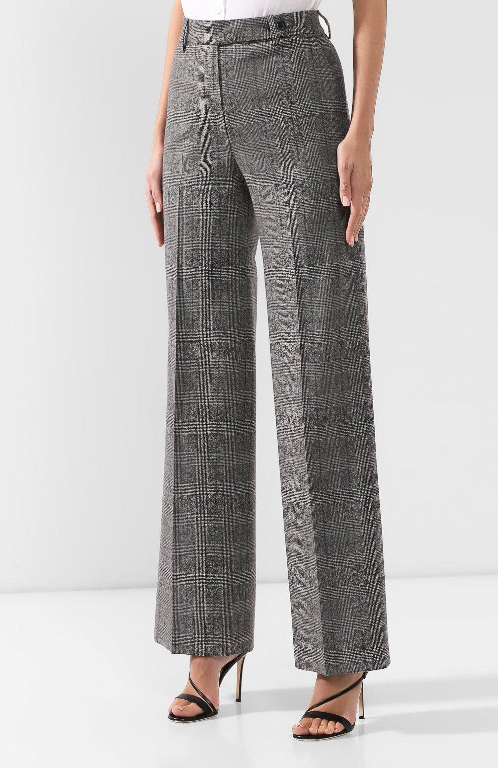Женские брюки из смеси шерсти и кашемира KITON серого цвета, арт. D48119K04S31 | Фото 3