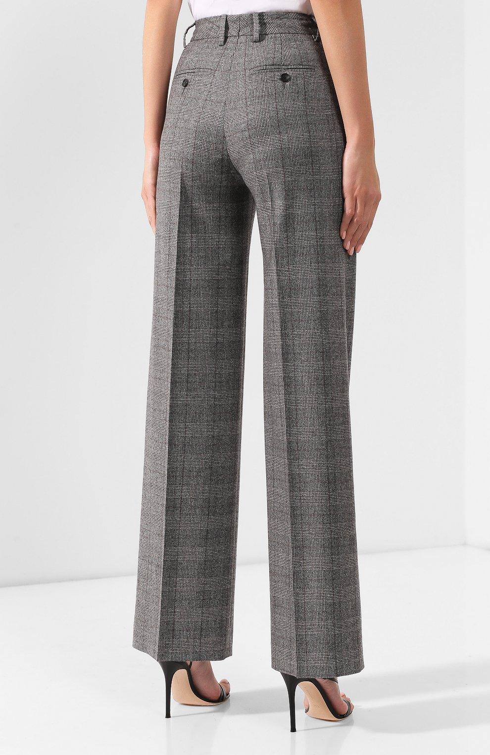 Женские брюки из смеси шерсти и кашемира KITON серого цвета, арт. D48119K04S31 | Фото 4