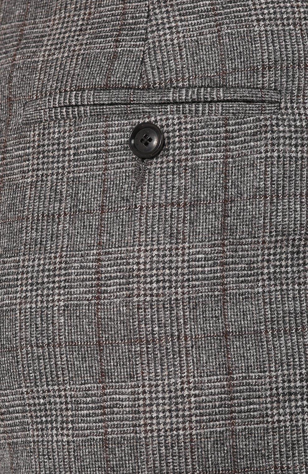 Женские брюки из смеси шерсти и кашемира KITON серого цвета, арт. D48119K04S31 | Фото 5