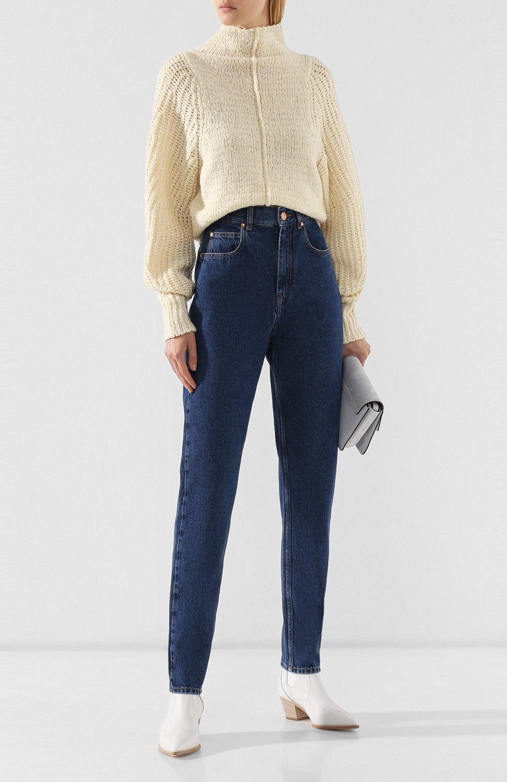 Женские джинсы ISABEL MARANT темно-синего цвета, арт. PA1358-19A017I/DUSTIN | Фото 2