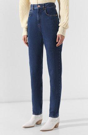 Женские джинсы ISABEL MARANT темно-синего цвета, арт. PA1358-19A017I/DUSTIN | Фото 3