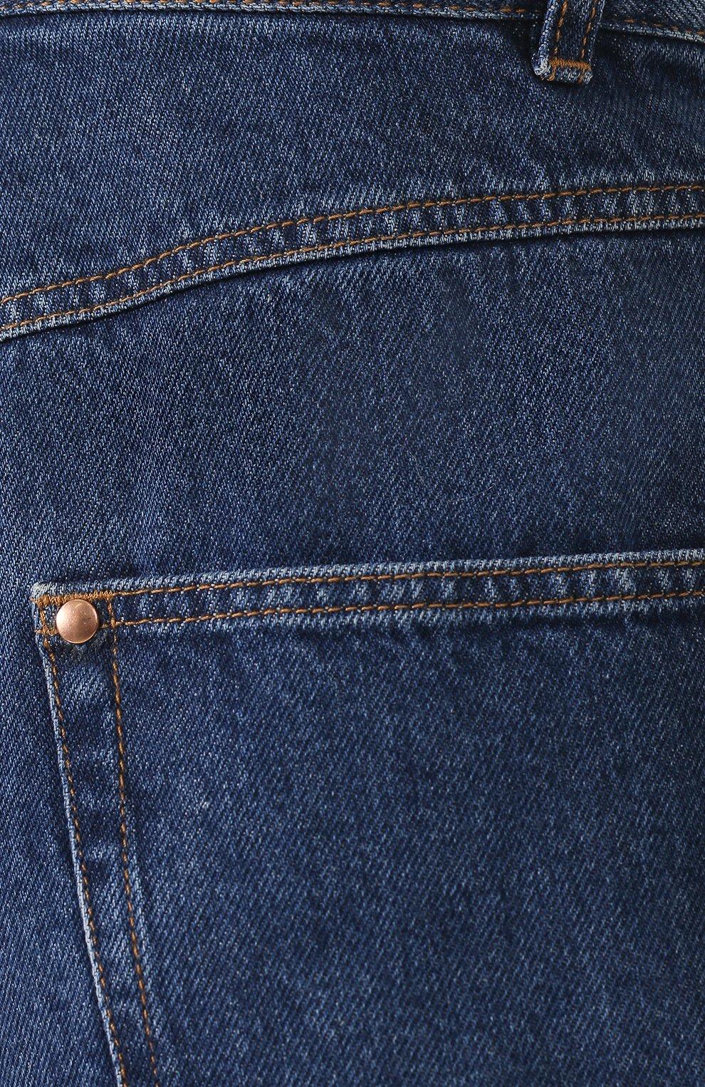 Женские джинсы ISABEL MARANT темно-синего цвета, арт. PA1358-19A017I/DUSTIN | Фото 5